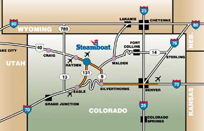 Directions to Steamboat Springs Colorado